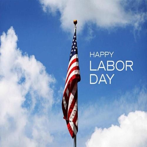Happy Labor Day Flag photo
