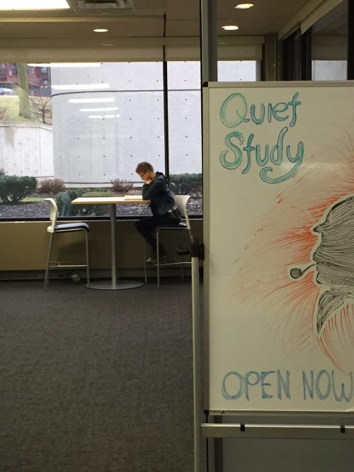Quiet Study Space student user