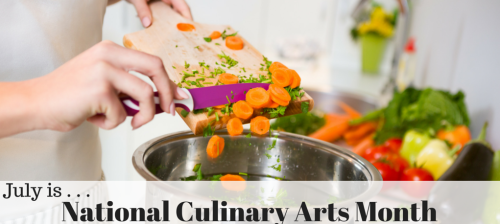 National Culinary Arts Month graphic