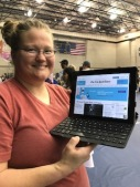 This student successfully created her free New York Times account.