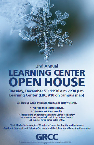 2017 Learning Center Open House poster