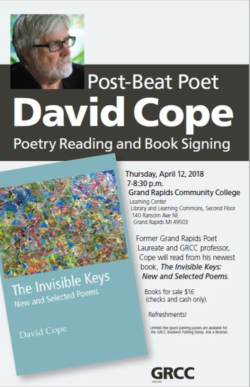 David Cope Poetry Reading Poster