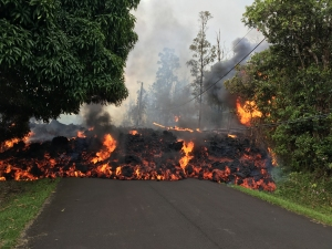 Hawaiian lava flow from USGS
