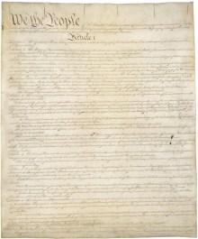 US Constitution facsimile