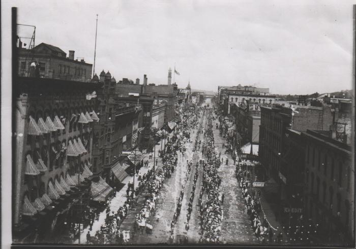 Grand Rapids Labor Day parade - historical photo