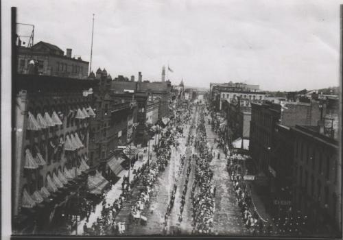 Grand Rapids Labor Day parade - historical photo