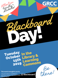 Blackboard Day poster