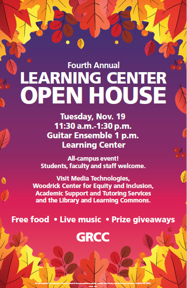 Learning Center Open House 2019 poster