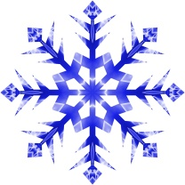 dark blue snowflake