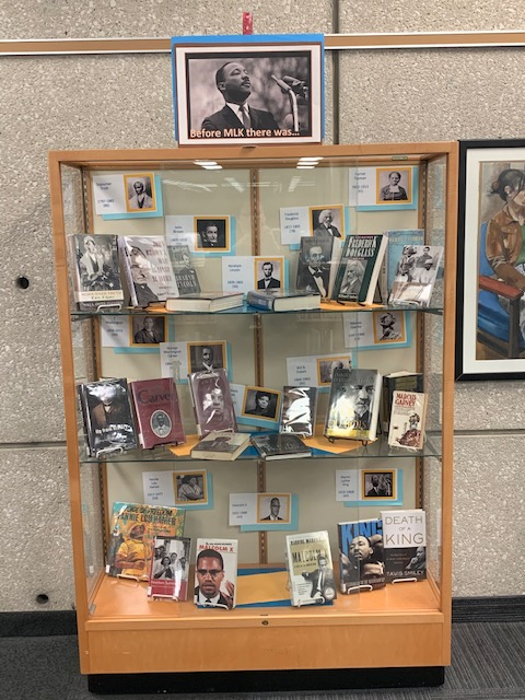 Before MLK Book Display
