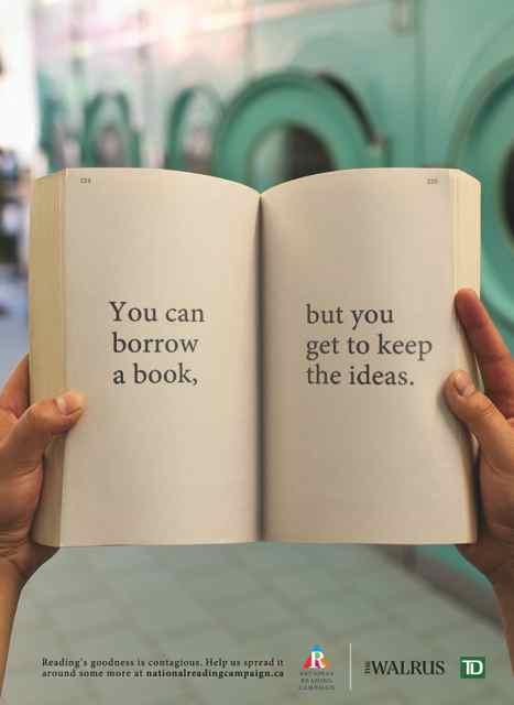 You Can Borrow a Book But You Get to Keep the Ideas
