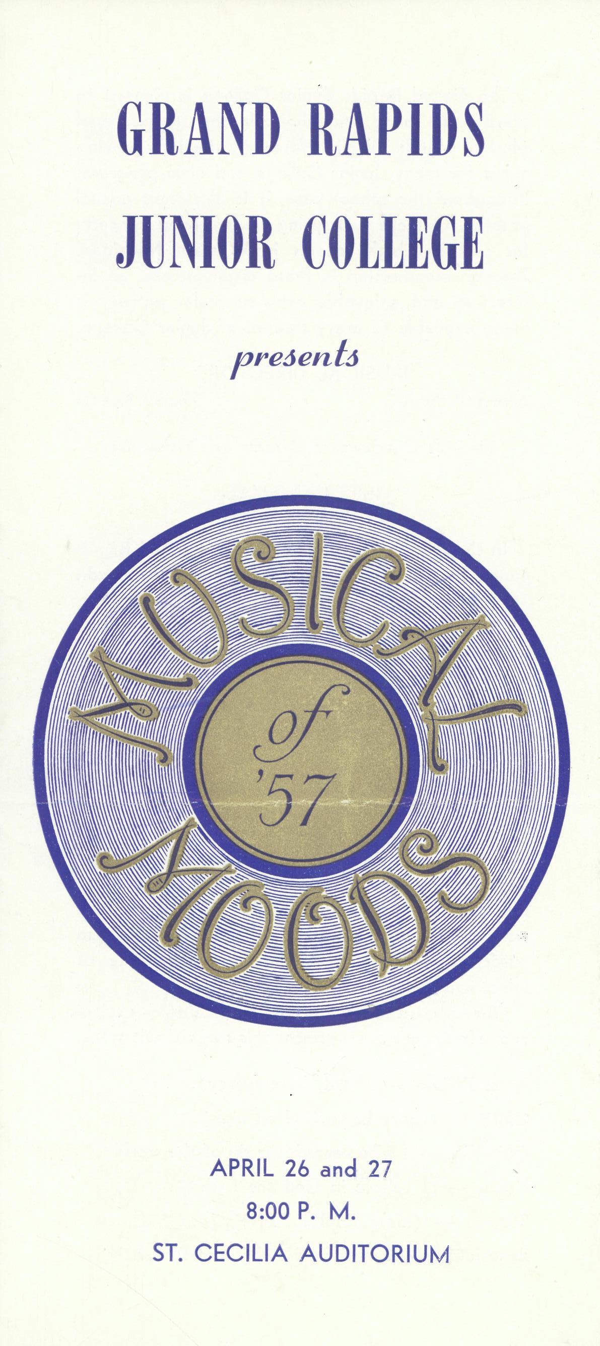 Musical Moods 1957 program