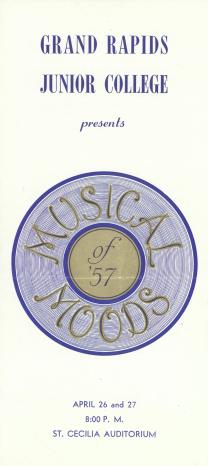 Musical Moods 1957 program