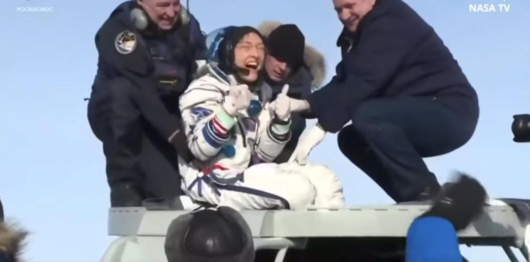 Tina Koch lands on Earth