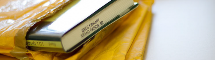RaiderLoan image of books in a mail pouch
