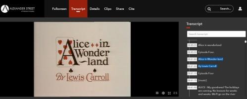 Alice in Wonderland opening logo