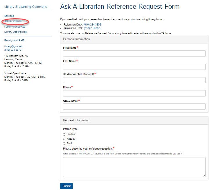 Ask-aLibrarian