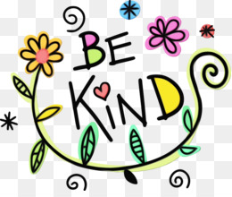 Be Kind graphic with flowers