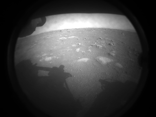 First photo from Perseverence Mars Robot Feb. 2021