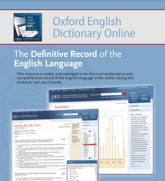 OED Oxford English Dictionary graphic