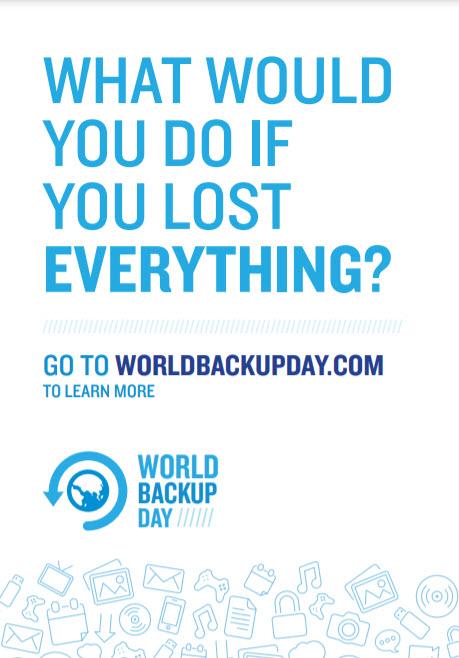 World Backup Day poster