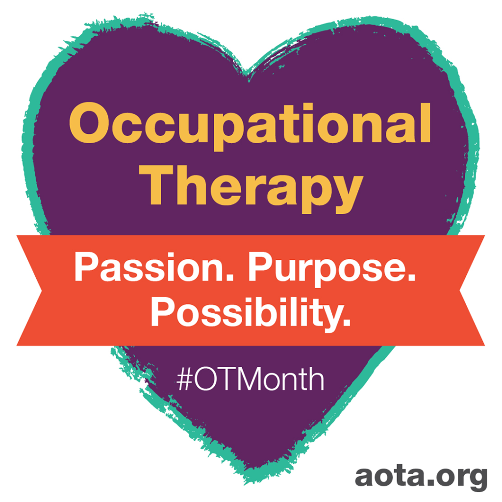 Occupational Therapy Month 2021 heart logo