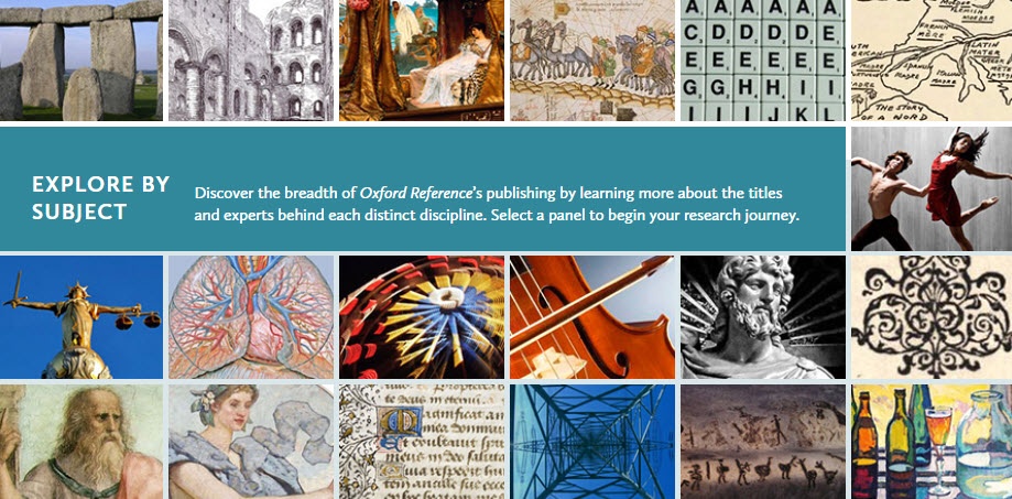 Oxford Reference Collection graphic