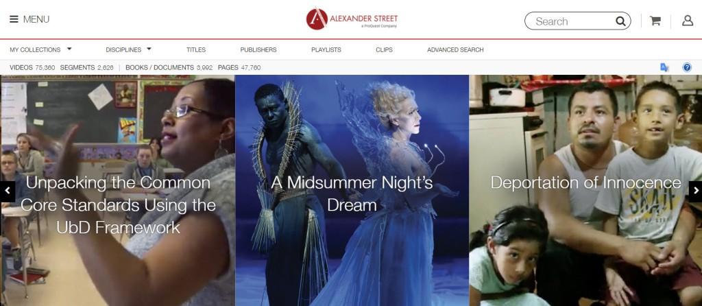 Academic Video Online screen