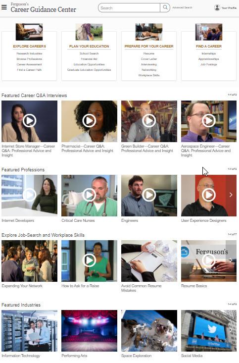 Ferguson's Career Guidance Center screen shot