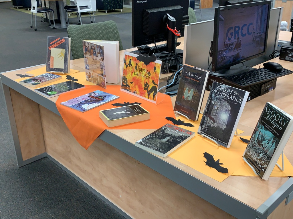 Halloween book display #2