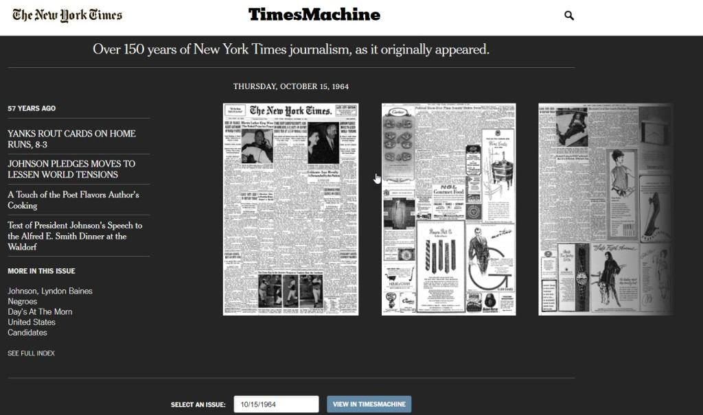 New York Times Times Machine